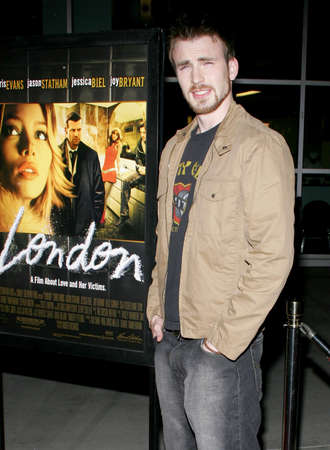 evans: Chris Evans at the Los Angeles premiere of London held at the Arclight Cinemas in Hollywood, USA on February 6, 2006. Editorial