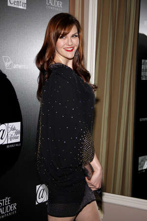 west hollywood: Sara Rue at the Los Angeles Gay And Lesbian Center Homeless Youth Services Benefit held at the Sunset Tower in West Hollywood, USA on January 23, 2012.