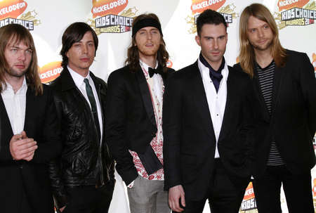 Adam Levine and Maroon 5 at the Nickelodeon's 20th Annual Kids' Choice Awards held at the Pauley Pavilion - UCLA in Westwood, USA on March 31, 2007. 新闻类图片