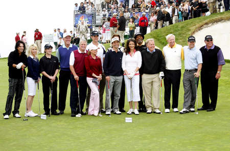 cooper: Michael Douglas, Kenny G, Samuel L. Jackson, Alice Cooper, Catherine Zeta-Jones, Heather Locklear, Martin Sheen, Josh Duhamel, Cheryl Ladd, Samuel L. Jackson and Mark Wahlberg at the 9th Annual Michael Douglas & Friends Celebrity Golf Tournament held at t