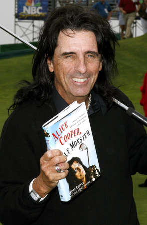 cooper: Alice Cooper at the 9th Annual Michael Douglas & Friends Celebrity Golf Tournament held at the Trump National Golf Club in Rancho Palos Verdes, USA on April 29, 2007.