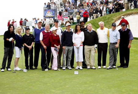 Michael Douglas, Kenny G, Haley Joel Osment, Samuel L. Jackson, Alice Cooper, Catherine Zeta-Jones, Heather Locklear, Martin Sheen, Josh Duhamel, Cheryl Ladd, Samuel L. Jackson and Mark Wahlberg at the 9th Annual Michael Douglas & Friends Celebrity Golf T
