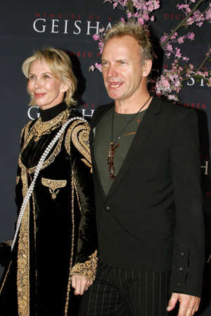 "hollywood   california: Sting attends the Los Angeles Premiere of ""Memoirs of a Geisha"" held at the Kodak Theatre in Hollywood, California, United States on December 4, 2005. Editorial"