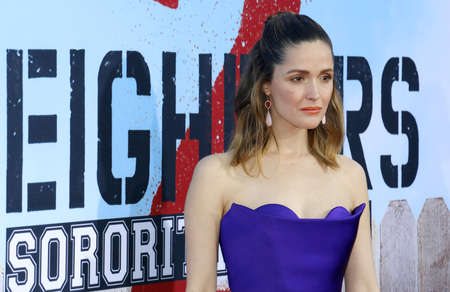 Rose Byrne at the Los Angeles premiere of 'Neighbors 2: Sorority Rising' held at the Regency Village Theatre in Westwood, USA on May 16, 2016.