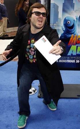 gibson: Jack Black at the Los Angeles premiere of Monsters vs. Aliens held at the Gibson Amphitheatre in Universal City on March 22, 2009.