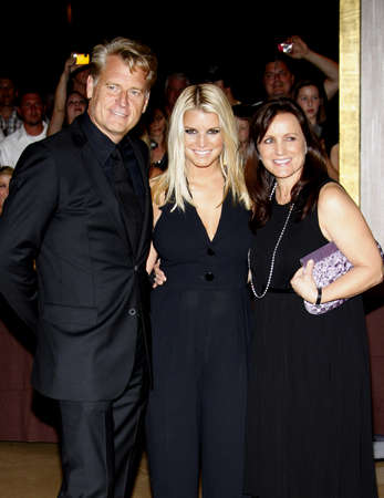 Joe Simpson, Jessica Simpson and Tina Simpson at the Operation Smile's 8th Annual Smile Gala held at the Beverly Hilton Hotel in Beverly Hills, USA on October 2, 2009.