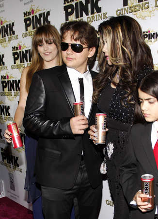 Prince Jackson, Paris Jackson and La Toya Jackson at the Mr. Pink Ginseng Drink Launch Party held at the Regent Beverly Wilshire Hotel in Beverly Hills, USA on October 11, 2012. Publikacyjne