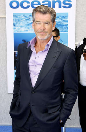 the oceans: Pierce Brosnan at the Los Angeles premiere of Oceans held at the El Capitan Theater in Hollywood, USA on April 17, 2010. Editorial