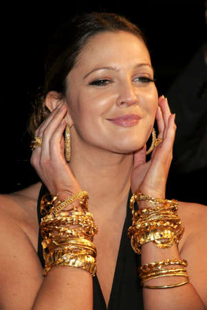 "Drew Barrymore woont de Los Angeles Premiere van ""Music and Lyrics"" bij in het Grauman's Chinese Theatre in Hollywood, Californië op 7 februari 2007. Redactioneel"