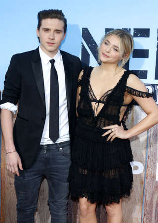Chloe Grace Moretz and Brooklyn Beckham at the Los Angeles premiere of 'Neighbors 2: Sorority Rising' held at the Regency Village Theatre in Westwood, USA on May 16, 2016.