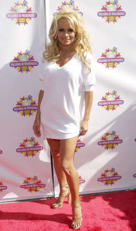 Pamela Anderson and PETA create the First ALL-VEGAN Shake held at the Millions of Milkshakes in West Hollywood, USA on April 9, 2010.
