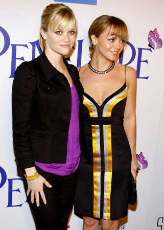 guild: Reese Witherspoon and Christina Ricci at the Los Angeles premiere of Penelope held at the Directors Guild of America Theater in Los Angeles on February 20, 2008.