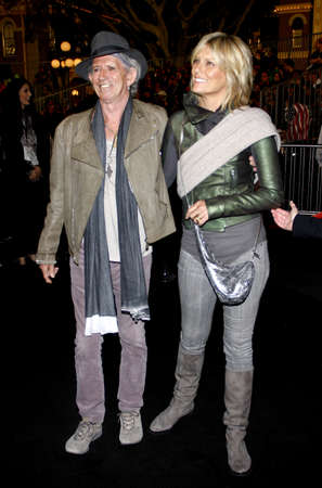 tides: Keith Richards and Patti Hansen at the Los Angeles premiere of Pirates Of The Caribbean: On Stranger Tides held at the Disneyland in Anaheim on May 7, 2011.