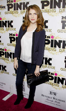 Anna Kendrick at the Mr. Pink Ginseng Drink Launch Party held at the Regent Beverly Wilshire Hotel in Beverly Hills, USA on October 11, 2012.