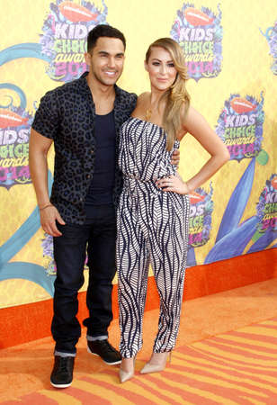 Carlos Pena-Vega and Alexa Vega at the Nickelodeons 27th Annual Kids Choice Awards held at the USC Galen Center in Los Angeles on March 29, 2014 in Los Angeles, California.