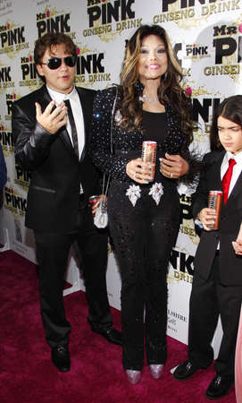 Prince Jackson, La Toya Jackson and Blanket Jackson at the Mr. Pink Ginseng Drink Launch Party held at the Regent Beverly Wilshire Hotel in Beverly Hills, USA on October 11, 2012.