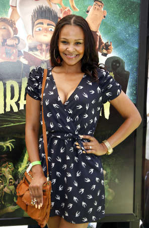 Samantha Mumba at the Los Angeles premiere of 'ParaNorman' held at the Universal CityWalk in Universal City, USA on August 5, 2012. Editorial