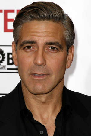George Clooney at the Los Angeles Premiere of Oceans Thirteen held at the Graumans Chinese Theatre in Hollywood, USA, on June 5, 2006. Editorial
