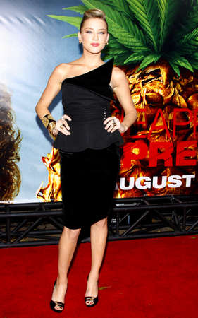 premiere: Amber Heard at the Los Angeles premiere of Pineapple Express held at the Mann Village Theater in Los Angeles on July 31, 2008. Editorial