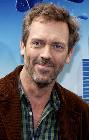gibson: Hugh Laurie at the Los Angeles premiere of Monsters vs. Aliens held at the Gibson Amphitheatre in Universal City on March 22, 2009.