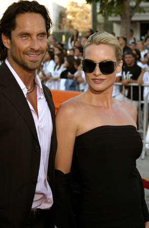 mr and mrs: Niklas Soderblom and Nicollette Sheridan at the Los Angeles Premiere of Mr. & Mrs. Smith held at the Manns Village Theater in Westwood, USA on June 7, 2005.