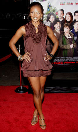 Eva Marcille at the Los Angeles premiere of Nothing Like The Holidays held at the Graumans Chinese Theater in Hollywood on December 3, 2008. Editorial