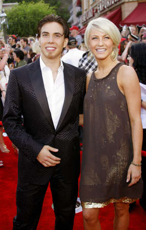 attend: Apolo Anton Ohno and Julianne Hough attend the World Premiere of Pirates of the Caribbean: At Worlds End held at Disneyland in Anaheim, California on May 19, 2007.