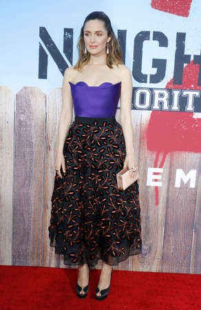 sorority: Rose Byrne at the Los Angeles premiere of 'Neighbors 2: Sorority Rising' held at the Regency Village Theatre in Westwood, USA on May 16, 2016. Editorial