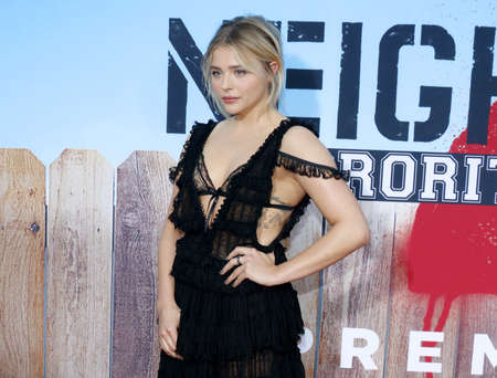 sorority: Chloe Grace Moretz at the Los Angeles premiere of Neighbors 2: Sorority Rising held at the Regency Village Theatre in Westwood, USA on May 16, 2016.