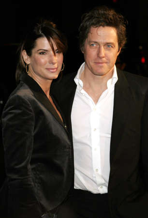 Sandra Bullock and Hugh Grant attend the Los Angeles Premiere of Music and Lyrics held at the Graumans Chinese Theater in Hollywood, California on February 7, 2007. Editorial