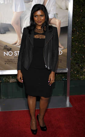 Mindy Kaling at the Los Angeles premiere of 'No Strings Attached' held at the Regency Village Theater on January 11, 2011.