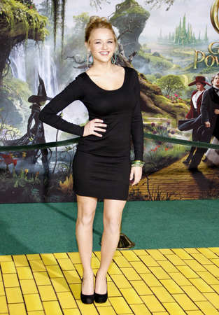 Hunter King at the 'Oz The Great And Powerful' Los Angeles Premiere at the Dolby Theater on April 10, 2013 in Hollywood, California.