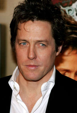 hollywood   california: Hugh Grant attends the Los Angeles Premiere of Music and Lyrics held at the Graumans Chinese Theater in Hollywood, California on February 7, 2007.