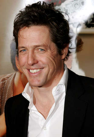 "Hugh Grant attends the Los Angeles Premiere of ""Music and Lyrics"" held at the Grauman's Chinese Theater in Hollywood, California on February 7, 2007. Editorial"