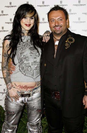 unveiling: Kat Von D and Napoleon Perdis attend the Napoleon Perdis Hollywood Store Unveiling held at the Napoleon Perdis in Hollywood, California on May 1, 2007.