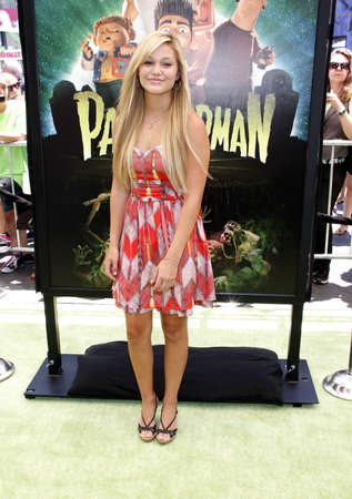 olivia: Olivia Holt at the Los Angeles premiere of 'ParaNorman' held at the Universal CityWalk in Universal City, USA on August 5, 2012.