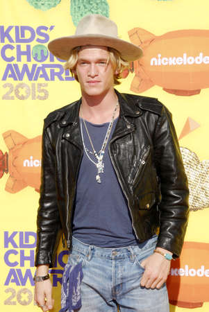 cody: Cody Simpson at the Nickelodeons 28th Annual Kids Choice Awards held at the Forum in Inglewood, USA on March 28, 2015.