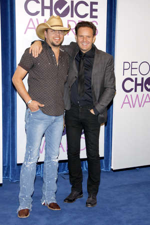 nominations: BEVERLY HILLS, CA - NOVEMBER 15, 2012: Jason Aldean and Mark Burnett at the Peoples Choice Awards 2013 Nominations held at the Paley Center in Beverly Hills, USA on November 15, 2012. Editorial