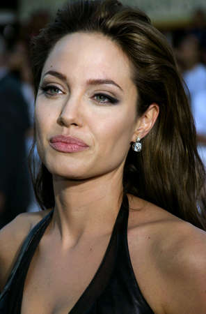 mr and mrs: Angelina Jolie at the Los Angeles Premiere of Mr. & Mrs. Smith held at the Manns Village Theater in Westwood, USA on June 7, 2005.