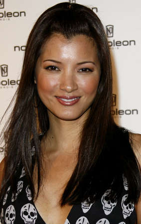 unveiling: Kelly Hu attends the Napoleon Perdis Hollywood Store Unveiling held at the Napoleon Perdis in Hollywood, California on May 1, 2007.