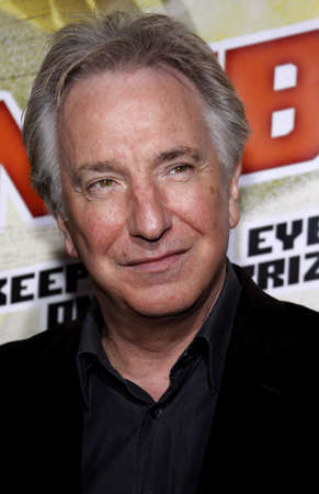 Alan Rickman at the Los Angeles premiere of 'Nobel Son' held at the Egyptian Theater in Hollywood on December 2, 2008. Stok Fotoğraf - 56846413