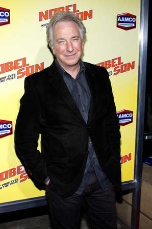 Alan Rickman at the Los Angeles premiere of Nobel Son held at the Egyptian Theatre in Hollywood, USA on December 2, 2008.