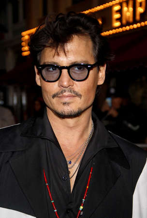 tides: Johnny Depp at the Los Angeles premiere of Pirates Of The Caribbean: On Stranger Tides held at the Disneyland in Anaheim on May 7, 2011. Editorial