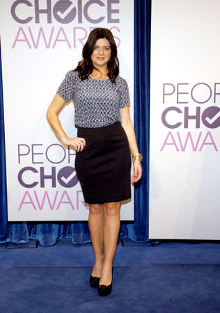 nominations: BEVERLY HILLS, CA - NOVEMBER 15, 2012: Casey Wilson at the Peoples Choice Awards 2013 Nominations held at the Paley Center in Beverly Hills, USA on November 15, 2012. Editorial