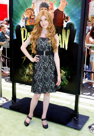 katherine: Katherine McNamara at the Los Angeles premiere of 'ParaNorman' held at the Universal CityWalk in Universal City, USA on August 5, 2012. Editorial