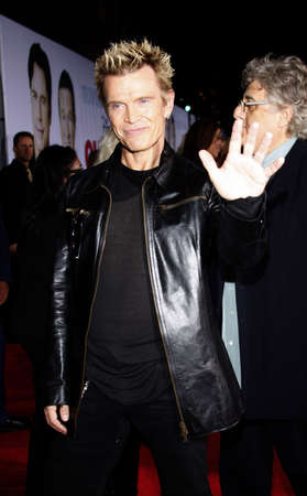 HOLLYWOOD, CA - NOVEMBER 09, 2009: Billy Idol at the World premiere of 'Old Dogs' held at the El Capitan Theater in Hollywood, USA on November 9, 2009.