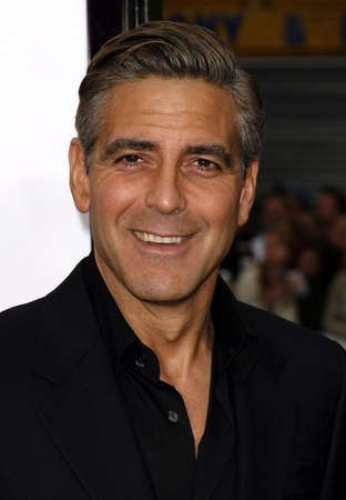 George Clooney at the Los Angeles Premiere of Oceans Thirteen held at the Graumans Chinese Theatre in Hollywood, USA, on June 5, 2006. Redakční