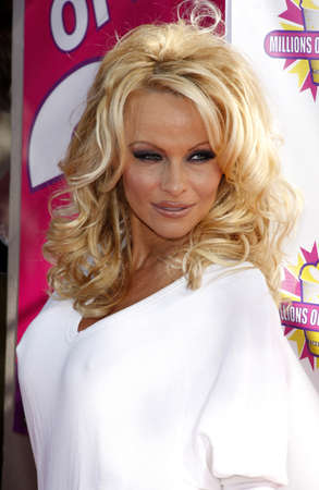 millions: Pamela Anderson and PETA create the First ALL-VEGAN Shake held at the Millions of Milkshakes in West Hollywood, USA on April 9, 2010.