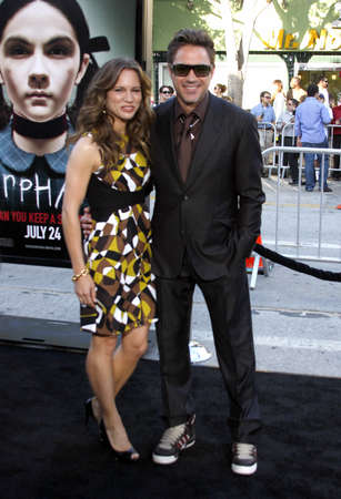 orphan: Robert Downey Jr. and Susan Downey at the Los Angeles premiere of Orphan held at the Mann Vilage Theater in Westwood, USA on July 21, 2009. Editorial