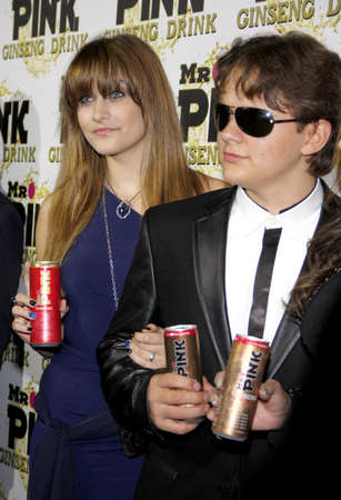 Prince Jackson and Paris Jackson at the Mr. Pink Ginseng Drink Launch Party held at the Regent Beverly Wilshire Hotel in Beverly Hills, USA on October 11, 2012.